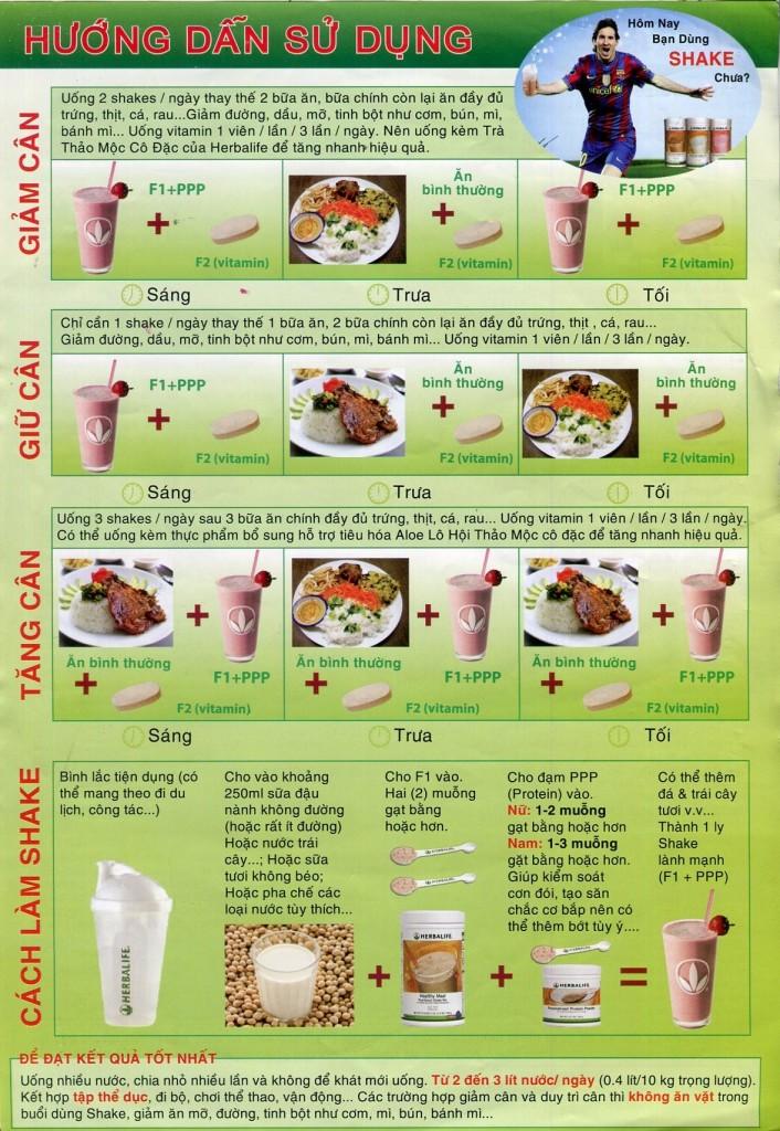 cách sử dụng sữa herbalife