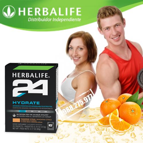 Dinh dưỡng cho vận động viên Herbalife 24 Hydrate Hương cam